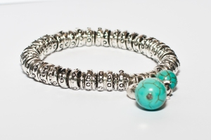 Multi link turquoise charm bracelet only £6.95